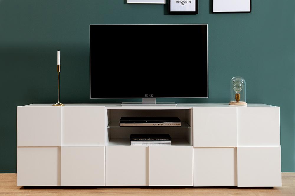 Witte Hoge Tv Kast.Modern Hoog Tv Meubel Kopen Aktie Wonen Nl
