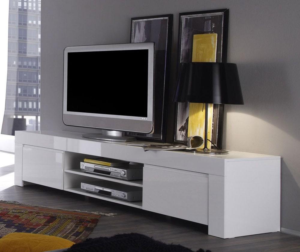 Lowboard Tv Kast.Tv Lowboard Hoogglans Wit Kopen Aktie Wonen Nl