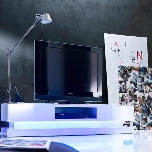 Tv lowboard led verlichting  hoogglans meubelen step met LED-verlichting bestellen | Aktie Wonen.nl