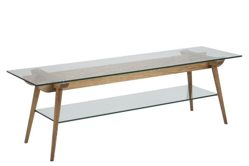 Modern tv meubel met transparant glas kopen aktie wonen.nl