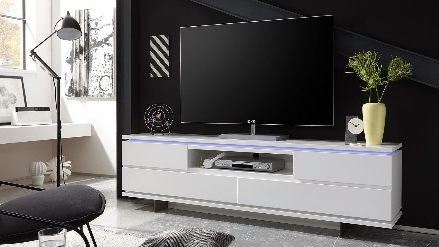 Wit tv meubel aktie for Tv dressoir hoogglans wit