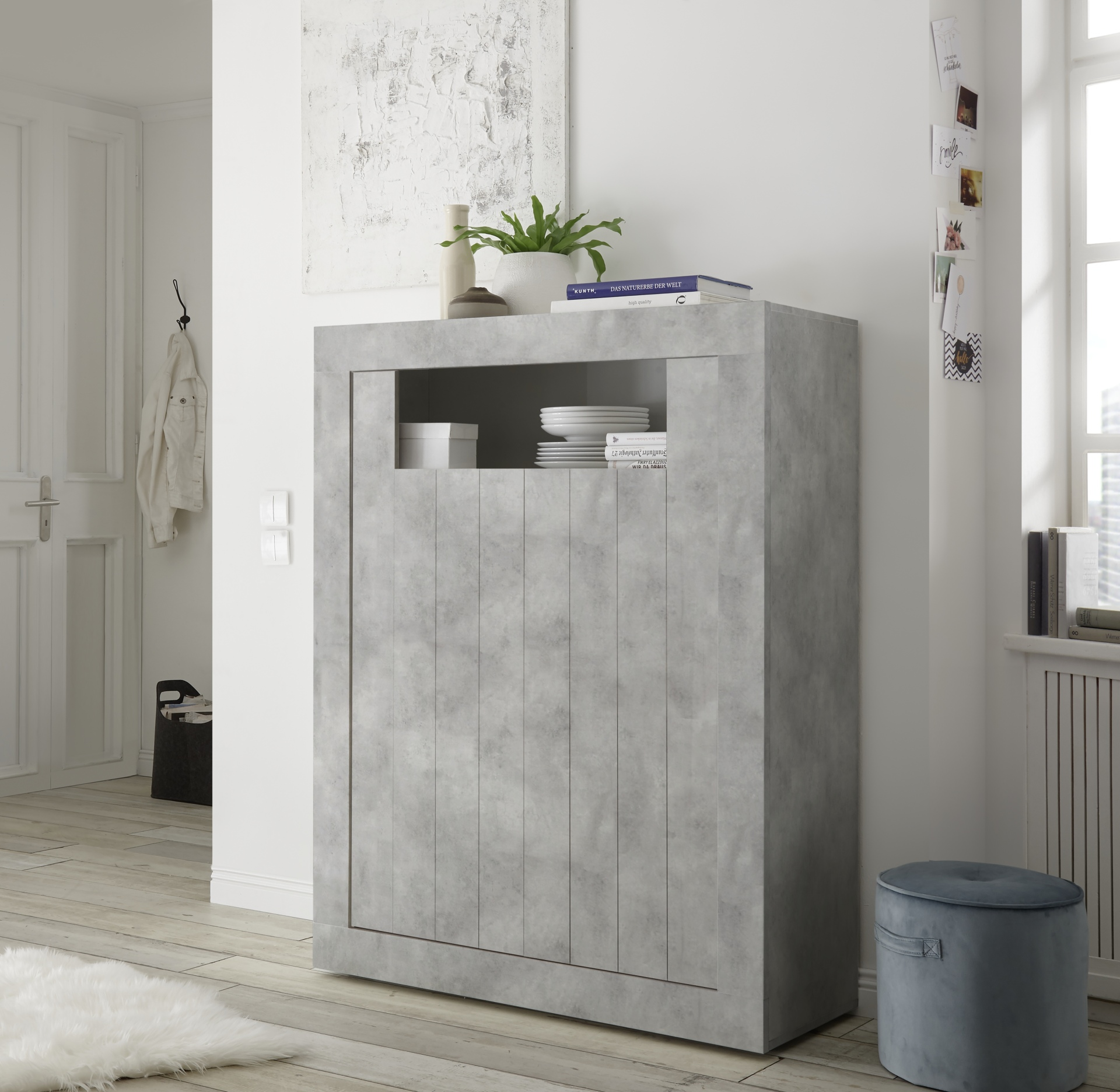 Highboard kast betonlook