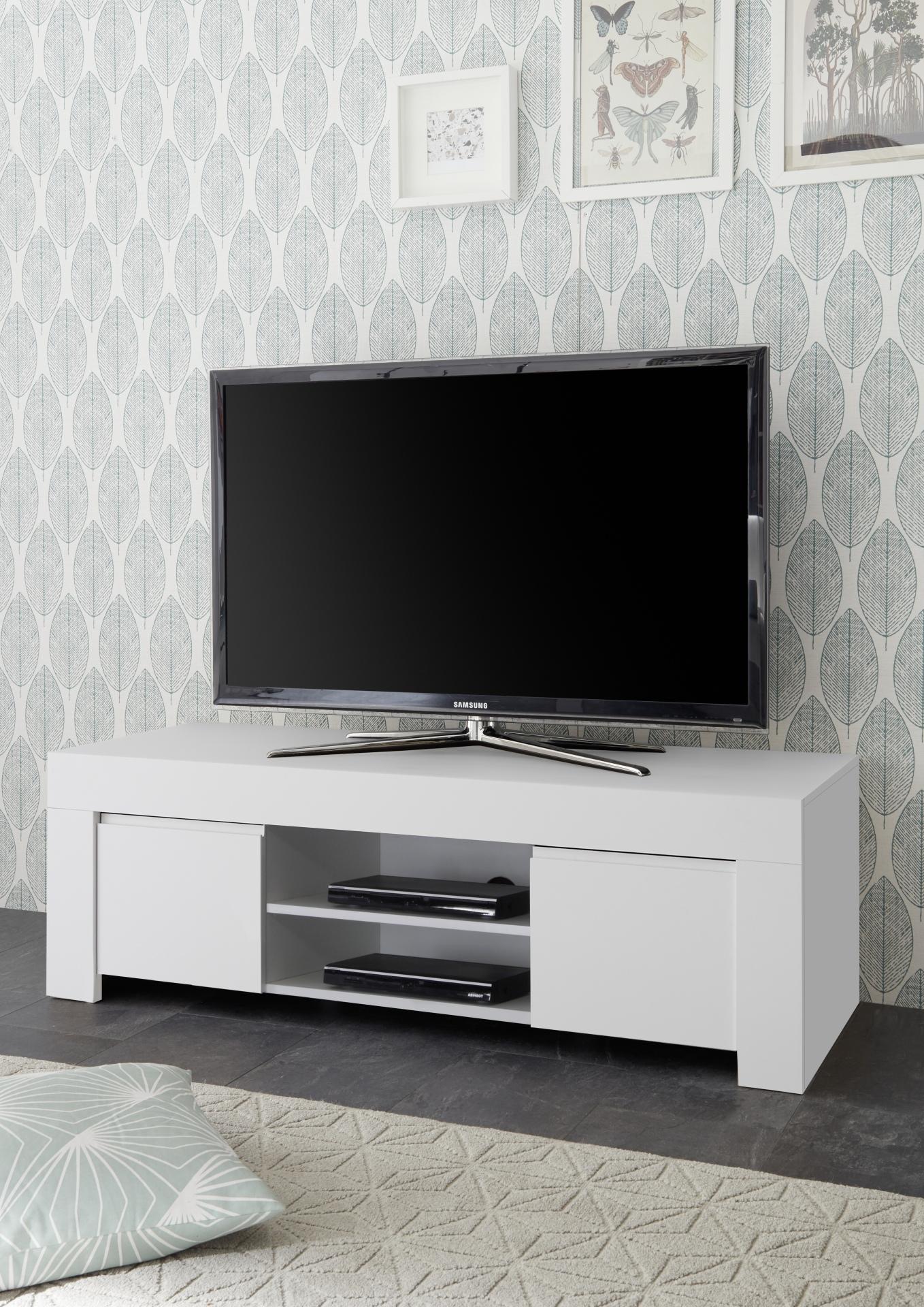 Lowboard Tv Meubel.Lowboard Mat Wit Kopen Aktie Wonen Nl