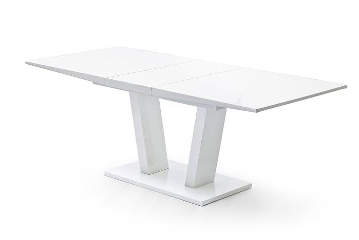 Witte Eettafel Uitschuifbaar.Uitschuifbare Eettafel Hoogglans Wit Aktie Wonen Nl
