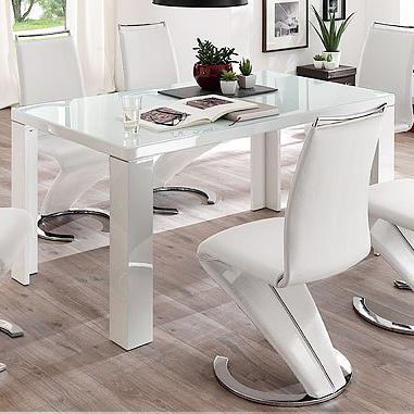 Witte Ronde Hoogglans Eettafel.Hoogglans Eettafels Zwarte En Witte Hoogglans Meubelen Aktie Wonen Nl