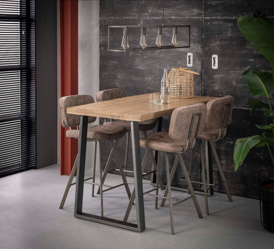Spiksplinternieuw Industriële bartafel mangohout | Aktie Wonen.nl QA-95