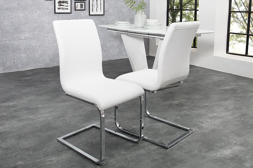 Witte moderne stoelen eetkamer aktie for Moderne stoelen outlet