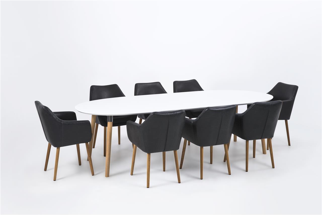 Ovale tafel uitschuifbaar wit aktie wonen .nl zevenaar