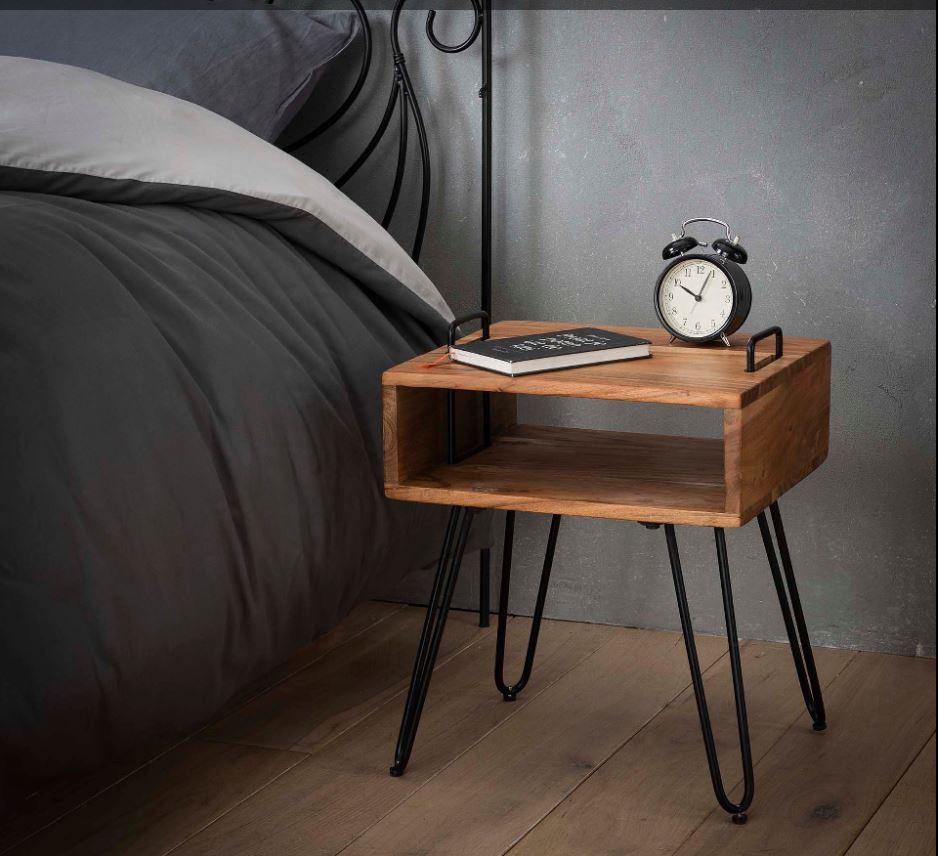 Nieuw nachtkastje acacia hout kopen | Aktie wonen.nl voor al uw PM-28