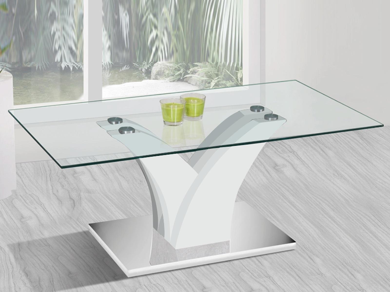 Moderne Glazen Salontafels.Glazen Salontafel Met Zuilen Aktiewonen Nl
