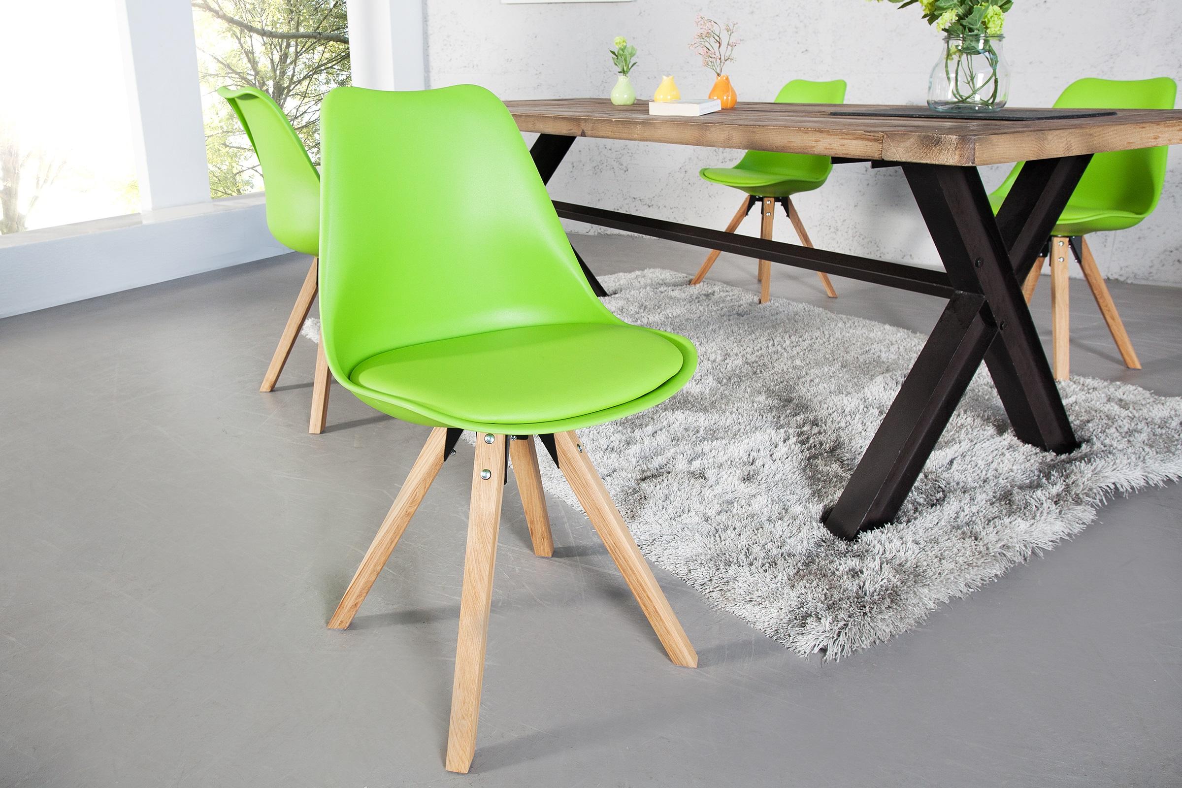 Trendy stoel houten poten lime aktie for Stoel houten poten
