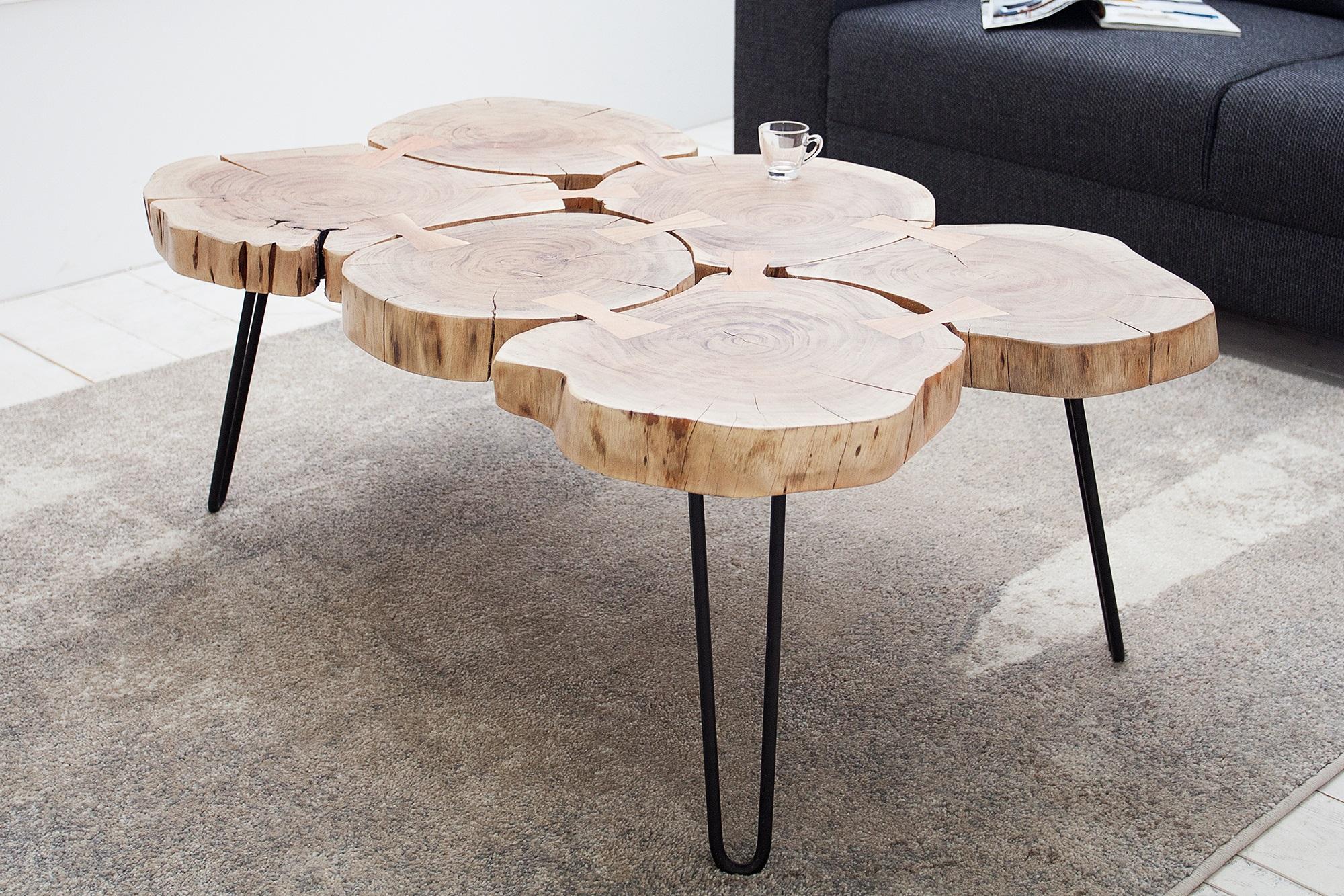 Tafel Van Boomstam : Boomstam salontafel kopen aktie wonen
