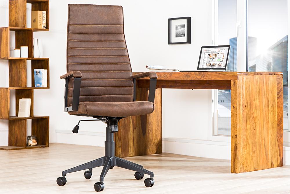 Bureau Stoel Kopen : Bureaustoel vintage bruin kopen aktie wonen