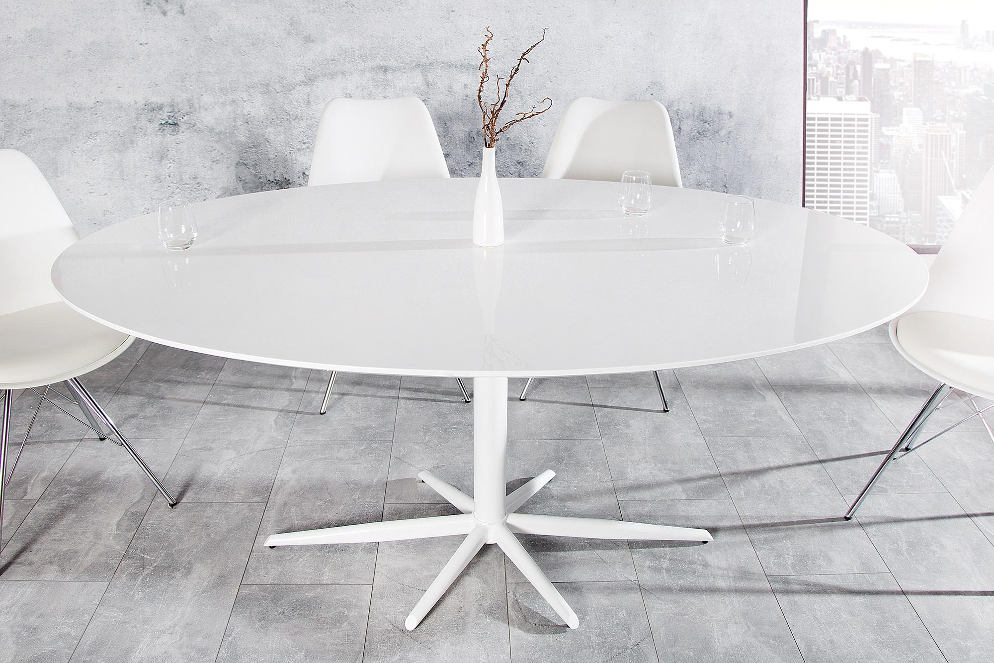 Hoogglans Witte Tafel : Witte tafel hoogglans aktie wonen.nl