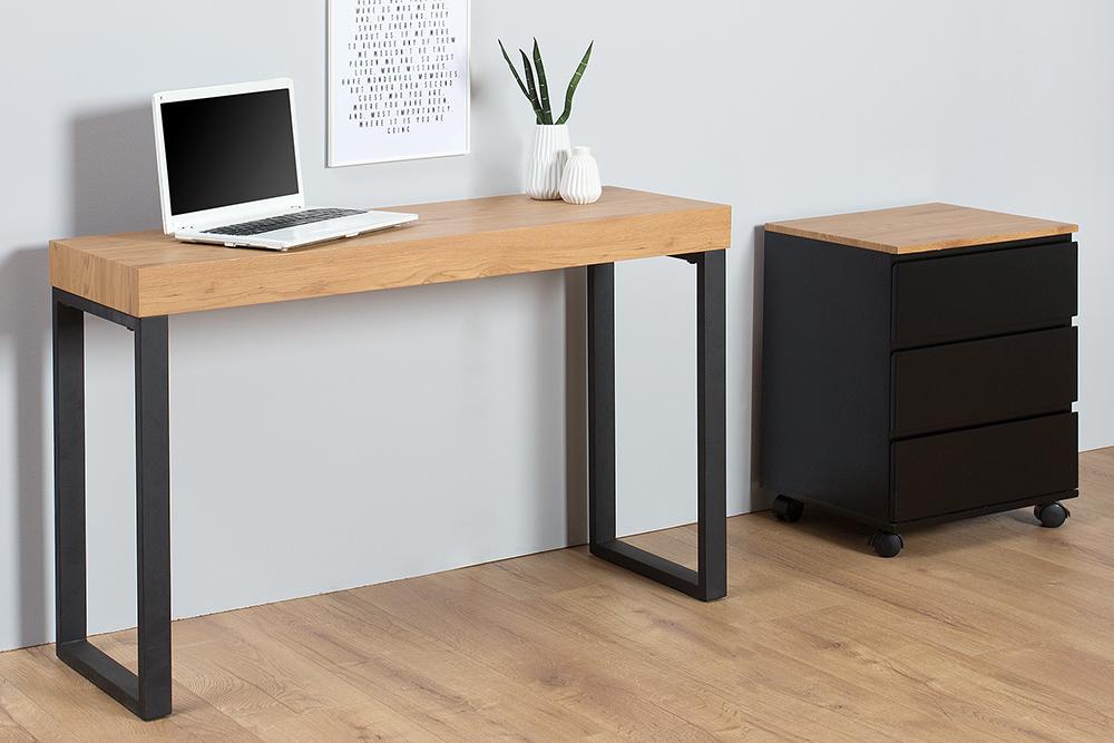 laptop tafel eiken zwart kopen | aktie wonen.nl