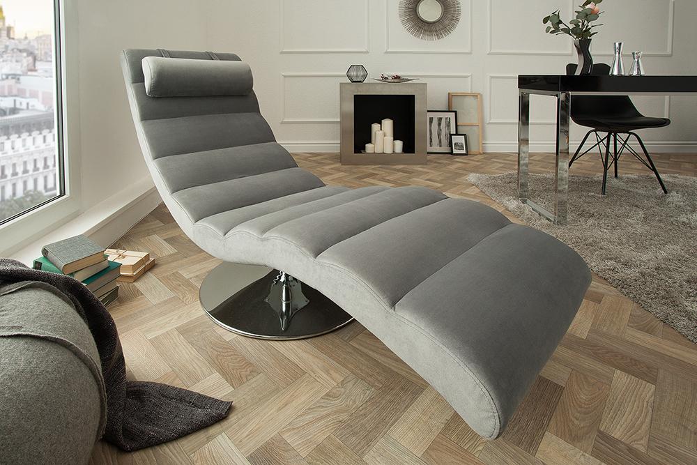 Relax Fauteuil Design.Een Design Relax Bank Met Fluwelen Stof Kopen Aktie Wonen Nl
