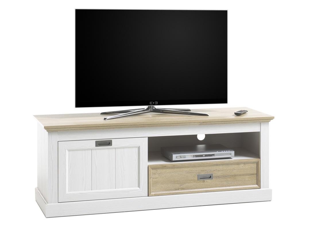 Landelijk Tv Meubel : Landelijk tv meubel wit eiken kopen aktie wonen.nl