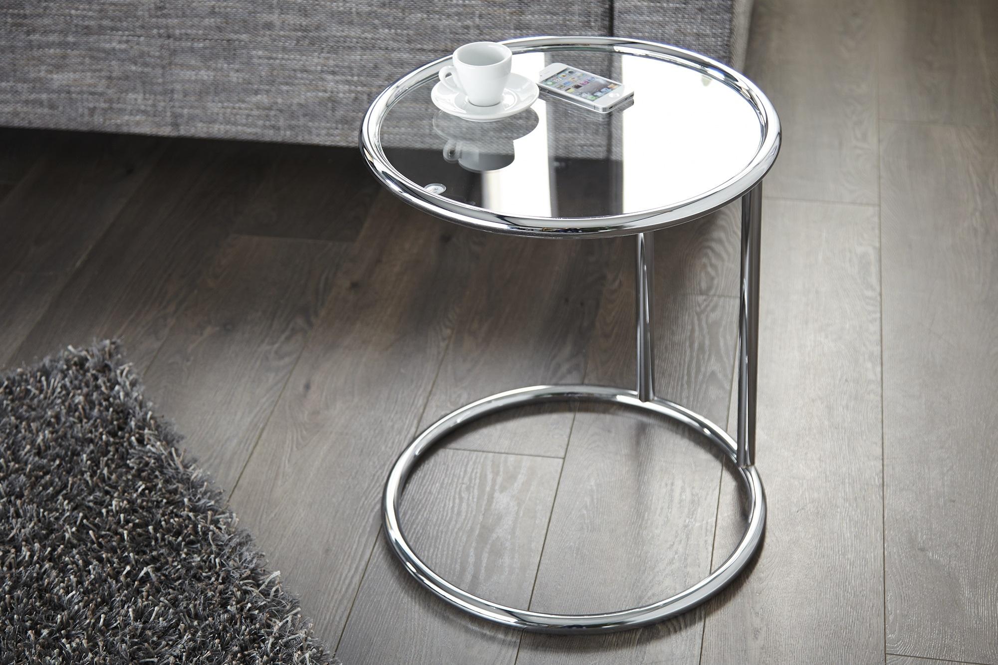Trendy bijzettafel zilver kleur - Deco eetkamer trendy ...