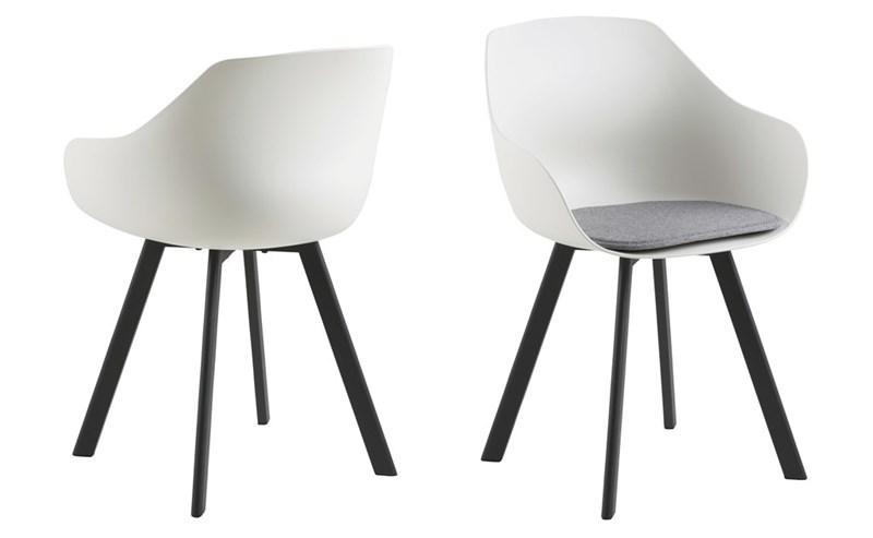Witte stoel trendy en voordelig aktie wonen