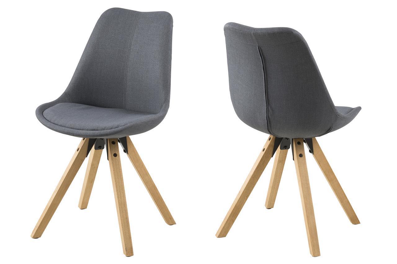 Trendy stoel houten poten grijs aktie for Stoel houten poten