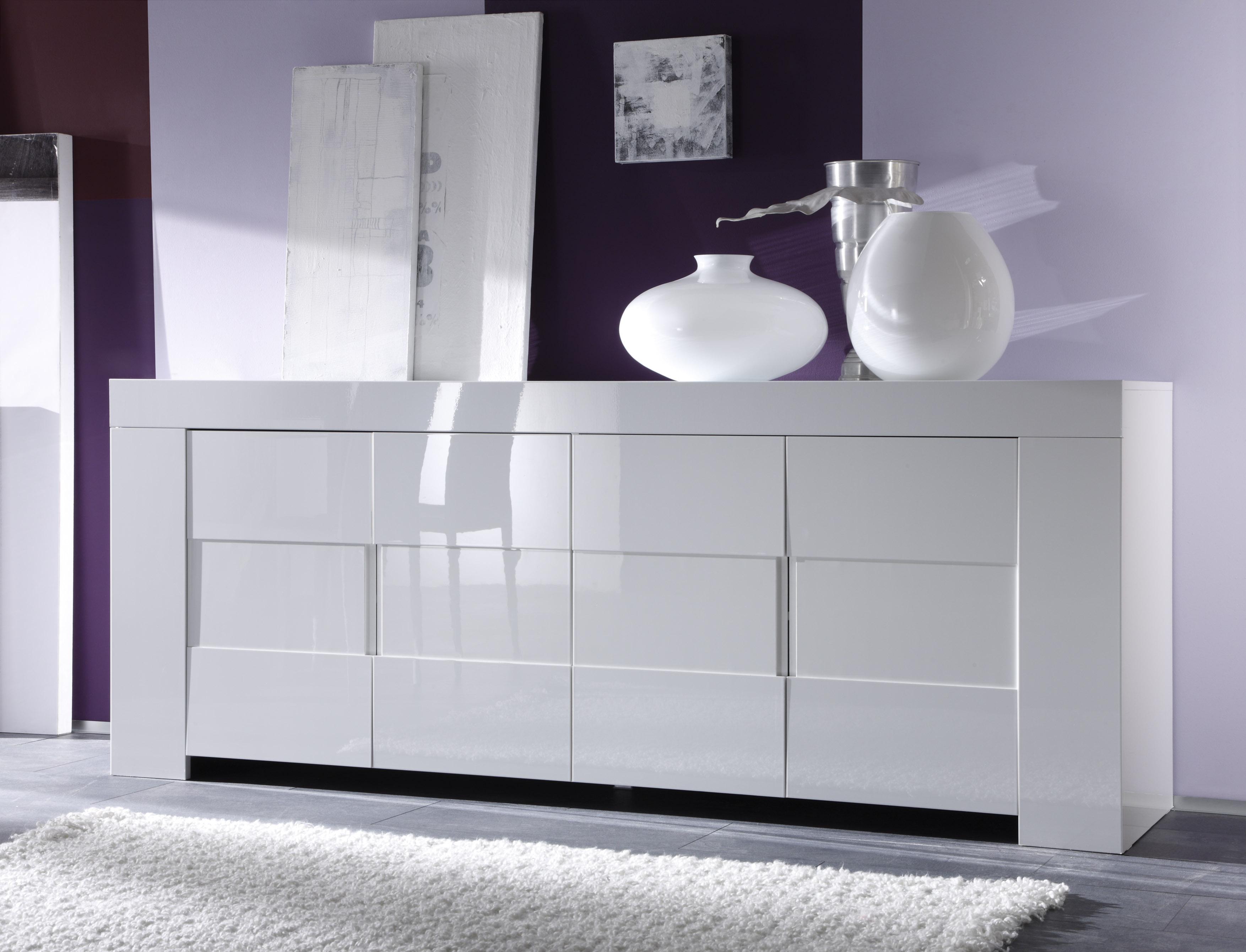 Hoogglans Kast Wit : Sideboard hoogglans wit kopen aktie wonen
