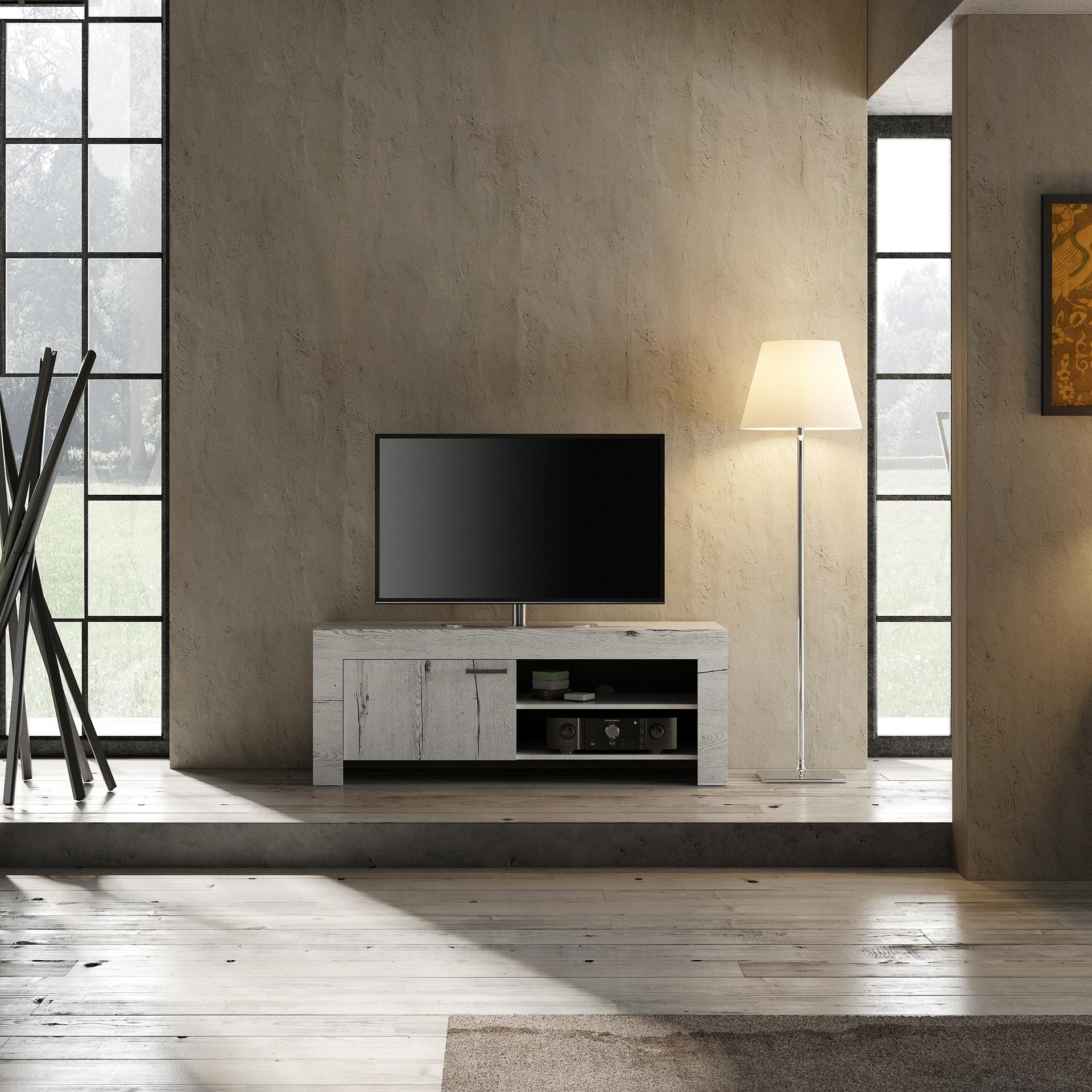 Tv Meubel In Wit Eiken Landelijk Kopen Aktie Wonennl