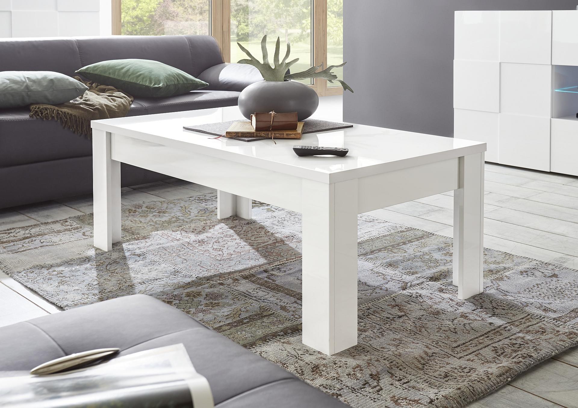 Salon Tafel Wit : Wit salontafel hoogglans kopen aktie wonen