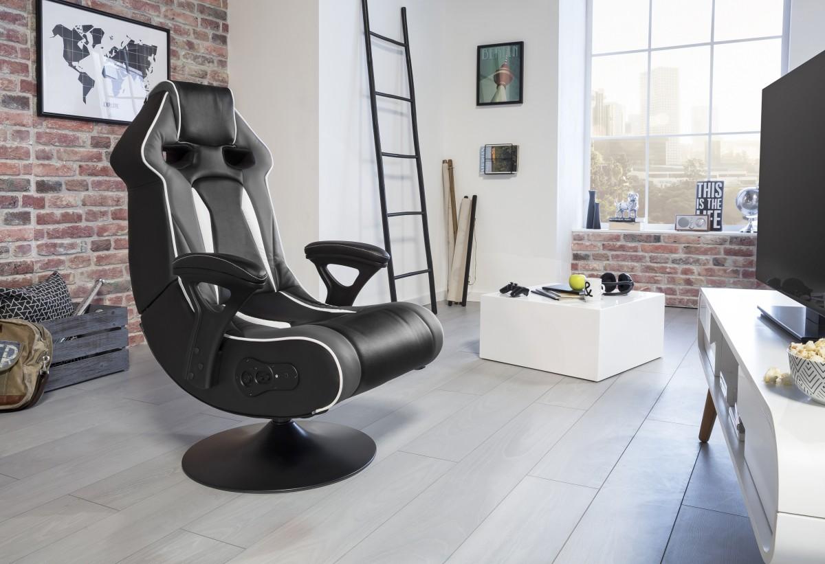 Stoere gaming stoel met bluetooth kopen aktie wonen