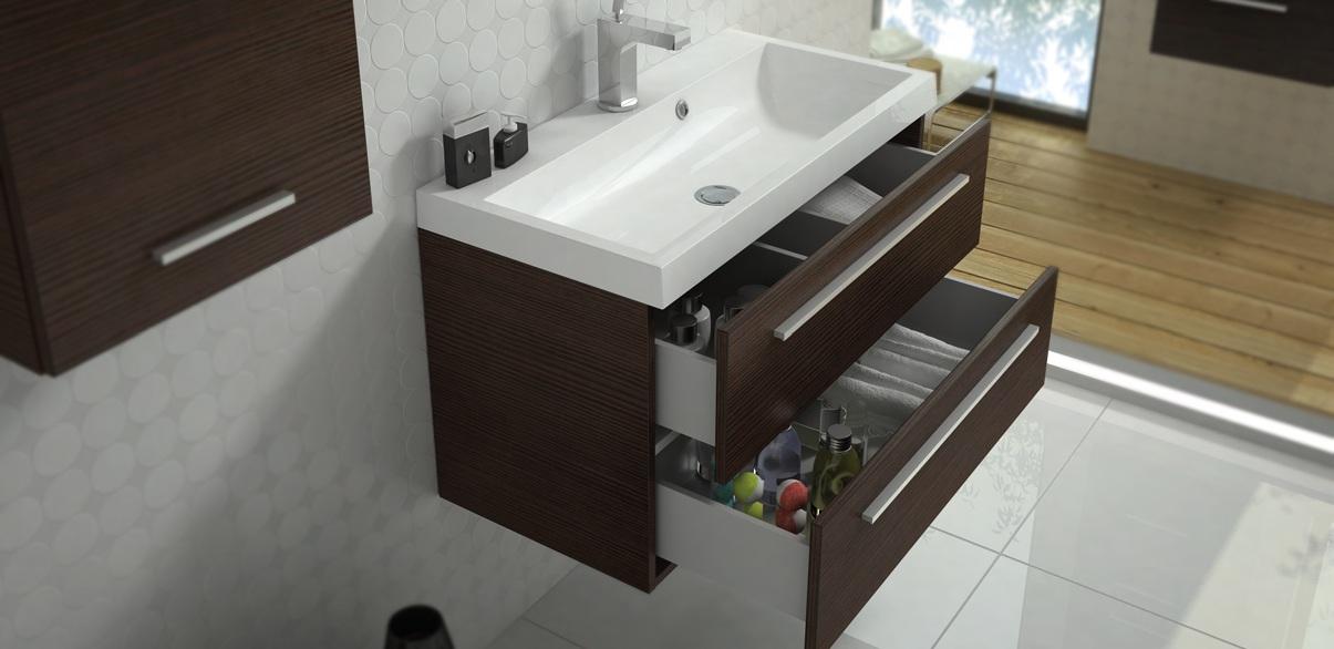 Badkamer Onderkast : badkamer meubel bruin Aktie Wonen.nl