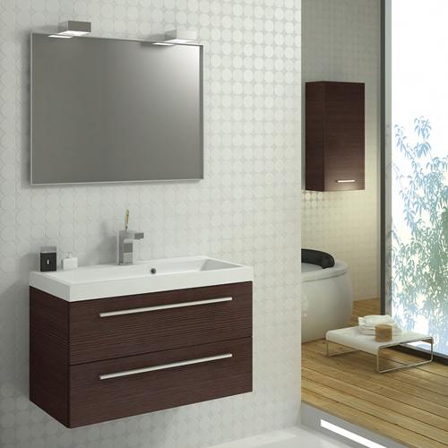 Badkamer meubel bruin aktie - Deco badkamer meubels ...