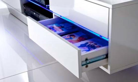 Tv lowboard led verlichting  tv lowboard hoogglans | Aktie Wonen.nl