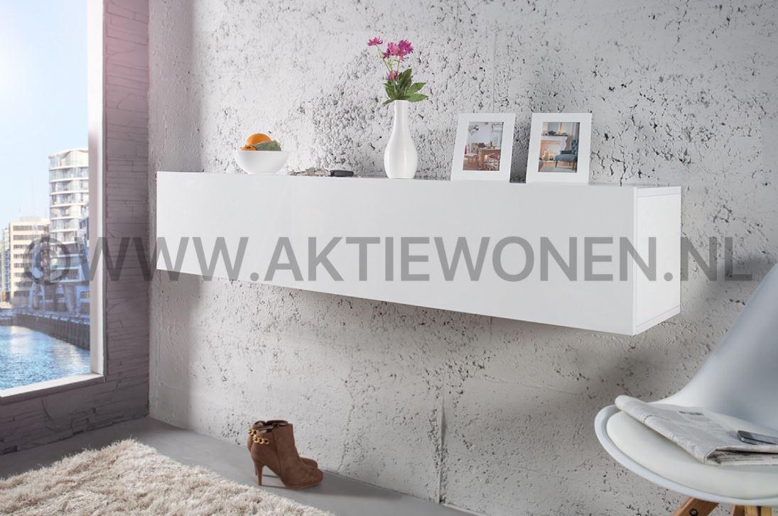 Witte hoogglans dressoirs metaal dressoir kast hoogglans wit