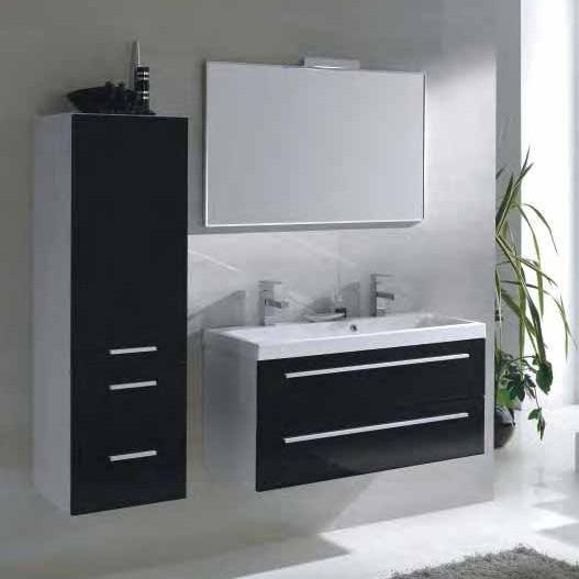 badkamer kast hoogglans zwart