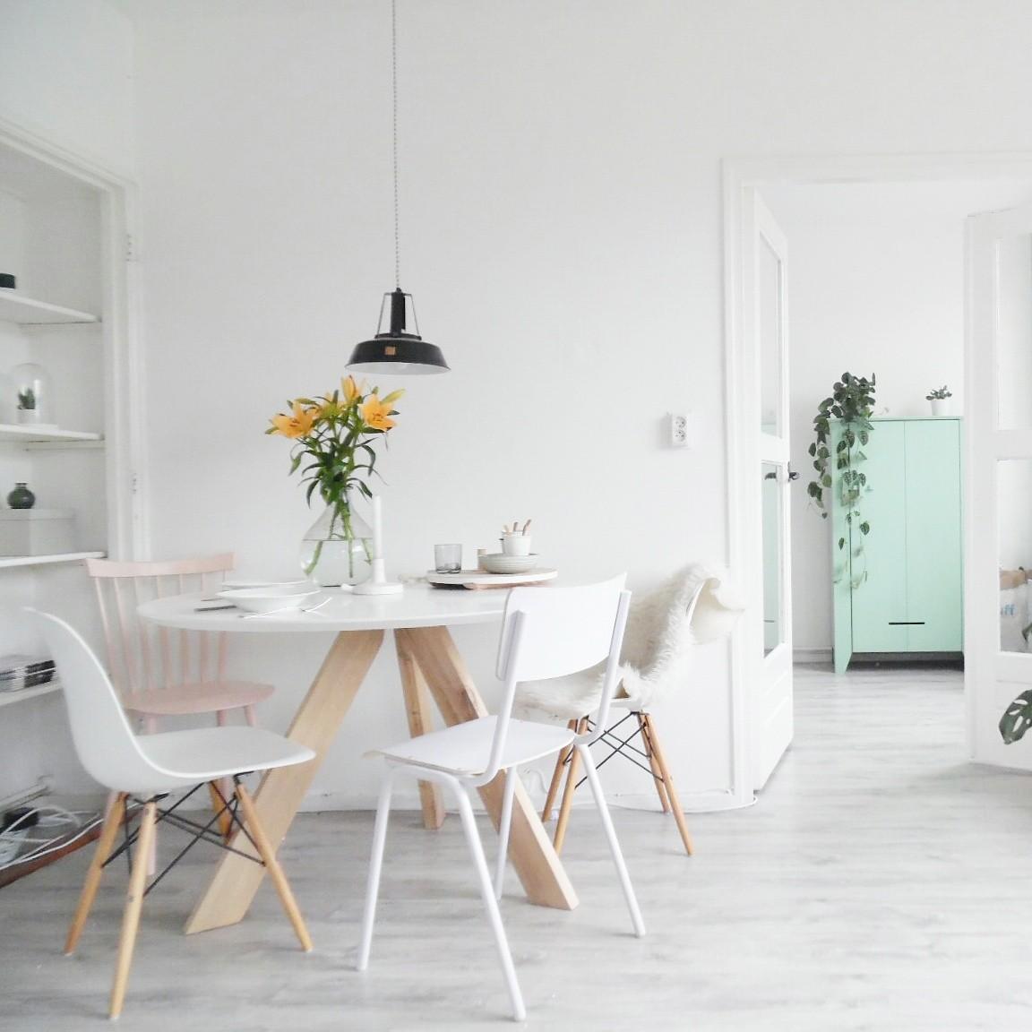 Ronde eettafel mat wit | Aktie wonen.nl Zevenaar