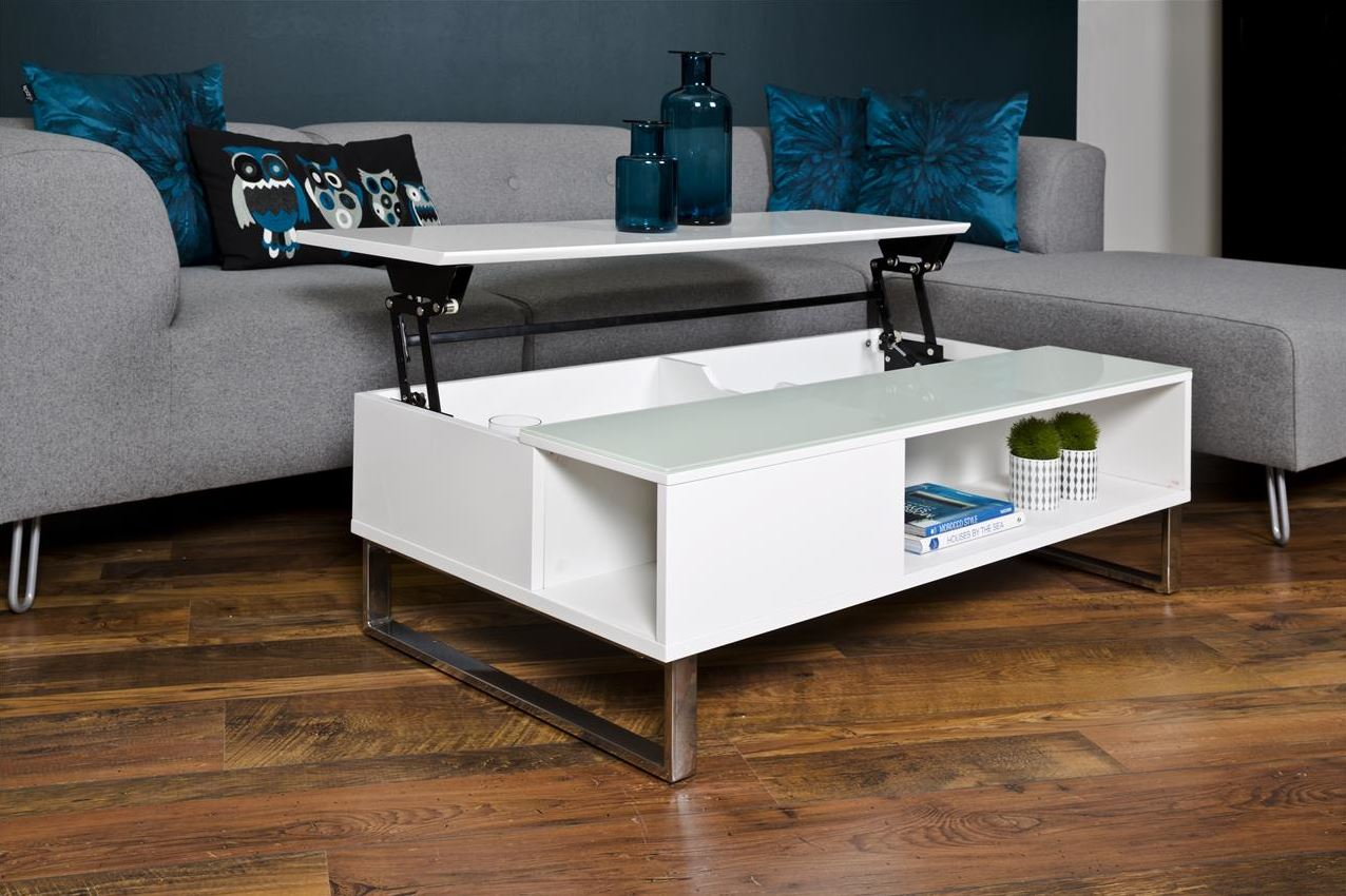 hoogglans salontafel met lift aktie. Black Bedroom Furniture Sets. Home Design Ideas