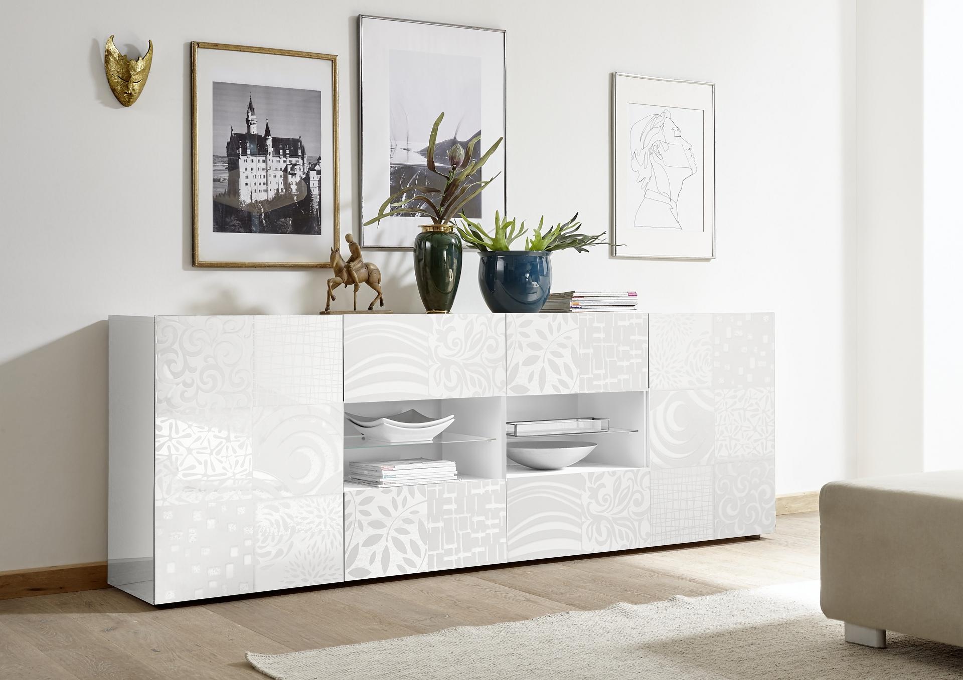 Aspect dressoir d l hoogglans wit goedkoopste op woning design