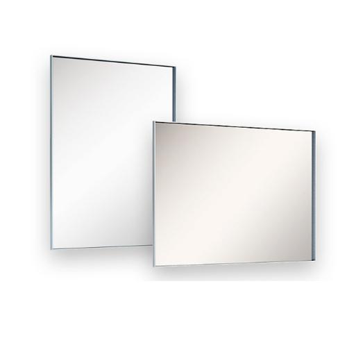 Badkamer spiegel met aluminium rand 80x60 aktie - Spiegel voor ingang ...