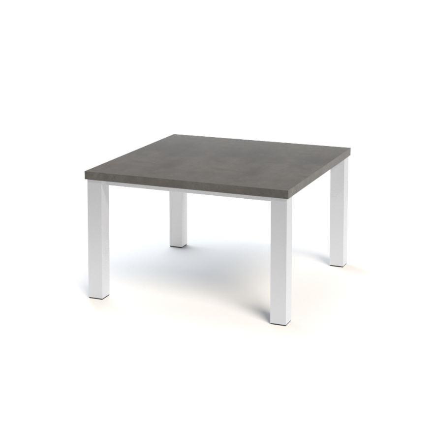Vierkante Eettafel 90x90.Vierkante Eettafel Betonlook Zwarte En Witte Hoogglans Meubelen Aktie Wonen Nl