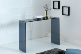 design sidetable glas antraciet