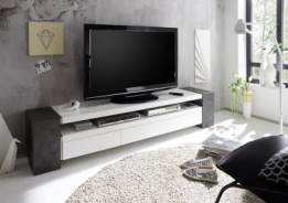 betonlook tv meubel mat wit