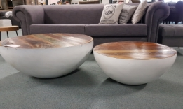ronde salontafel Bowl wit