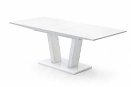 Uitschuifbare Eettafel 160 Cm.Uitschuifbare Eettafel Hoogglans Wit Aktie Wonen Nl
