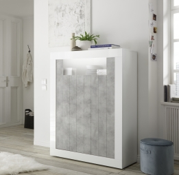 Highboard kast hoogglans betonlook