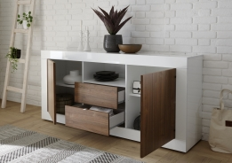 dressoir kast hoogglans wit noten