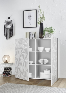 Prisma highboard wit hoogglans