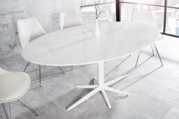Witte tafel hoogglans aktie wonen