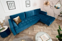longchair bank blauw