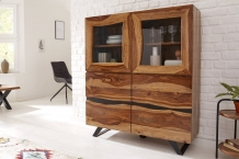 Highboard vitrinekast sheesham