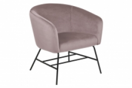 moderne fauteuil velours rose