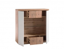 highboard kast eiken wit 110 cm
